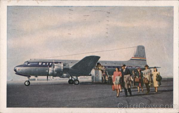 United's Giant DC-6 Mainliner 300 Airline Advertising