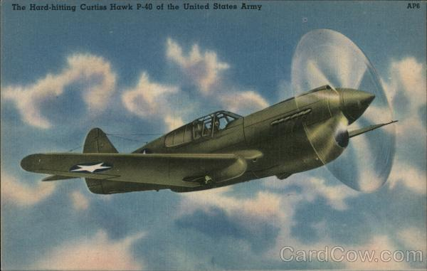 The Hard-hitting Curtiss Hawk P-40 of the United States Army