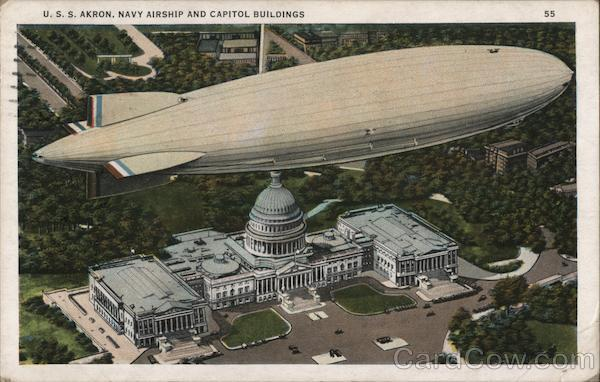 U.S.S. Akron, Navy Shipyard and Capitol Buildings Air Force