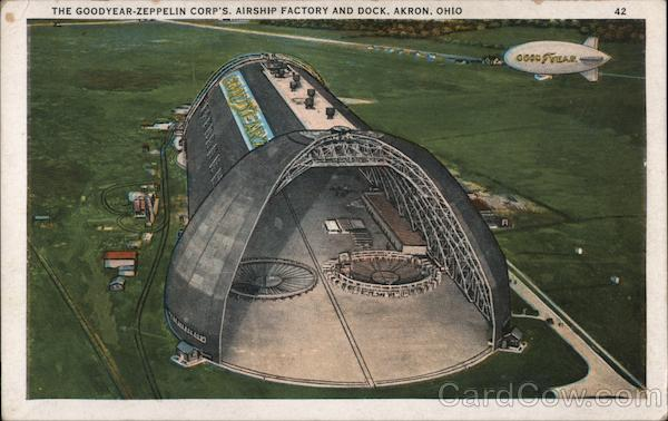 The Goodyear-Zeppelin Corp's Airship Factory and Dock Akron Ohio