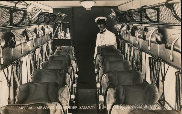 Imperial Airways Passenger Saloon, Silver Wing Service De Luxe