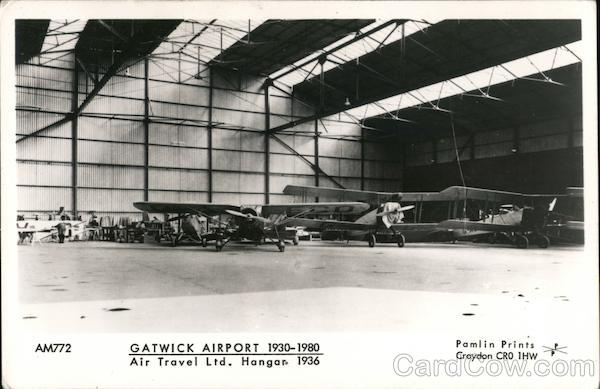 Gatwick Airport 1930-1980 Air Travel Ltd. Hangar 1936 England