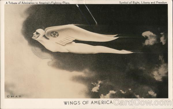 Wings of America - A Tribute of Admiration to America's Fighting Fliers - Symbol of Right, Liberty, and Freedom