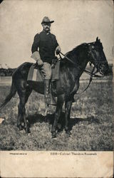 Colonel Theodore Roosevelt - Roosevelt riding horse in uniform