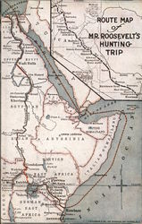 Map of Mr. Roosevelt's Hunting Trip