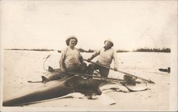Rare: Teddy Roosevelt Russell J. Coles with Manta Ray