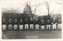 Presidents in Football Uniforms: America their Alma Mater, Democracy their goal Postcard