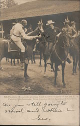 President Roosevelt greeting Lient-Colonel Edgerly of the 7th U.S. Calvary in Chickamauga, TN