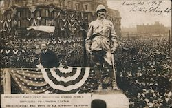 President Roosevelt Addressing 15,000 People
