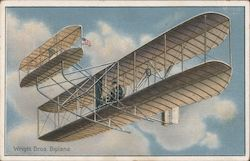 Wright Bros. Biplane Postcard