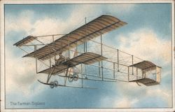 The Farman Biplane Postcard