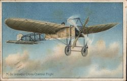 M. de Lessops' Cross-Channel Flight Postcard