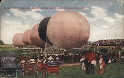 Scene During Balloon Races at the Speedway Postcard