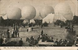 The Balloons, ready for the Race for the Gordon Bennett Cup Postcard