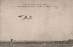 Curtiss Operating his Famous Biplane