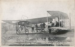 Collision of Coffin's Biplane and Moisant Monoplane Postcard