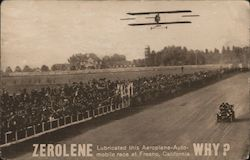 Zerolene - Lubricated this Aeroplane and Auto Mobile Race