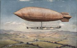"M. Deutsch's Airship ""La Ville de Paris"" Postcard"