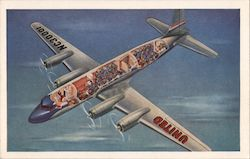 "Cutaway View of United's 4-Engine Mainliner for the ""Age of Flight"" Postcard"