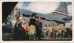Start of a Hawaiian Holiday - United Airlines Postcard