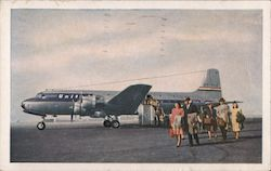 United's Giant DC-6 Mainliner 300 Postcard