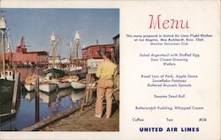 The Fishing Fleet - United Mainliner Menus Postcard