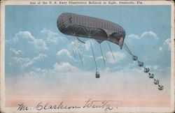 Navy Observation Balloon in Flight Postcard