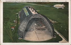 The Goodyear-Zeppelin Corp's Airship Factory and Dock Postcard