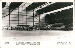 Gatwick Airport 1930-1980 Air Travel Ltd. Hangar 1936 Postcard