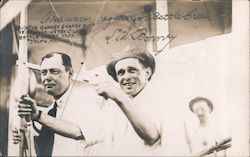 Aviator Bonney & Harry Burt of Postum Cereal Co. Battle Creek, Mich July 4, 1911. Postcard