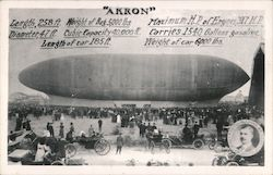 """Akron"" Airship Specifications Postcard"