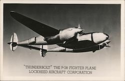 """Thunderbolt"" the P-38 Fighter Plane - Lockheed Aircraft Corporation"