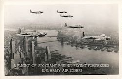 A Flight of Six Giant Boeing Flying Fortesses U.S. Army Air Corps