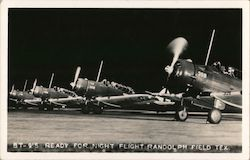 BT-9's Ready for Night Flight Postcard