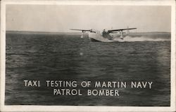 Taxi Testing of Martin Navy Patrol Bomber