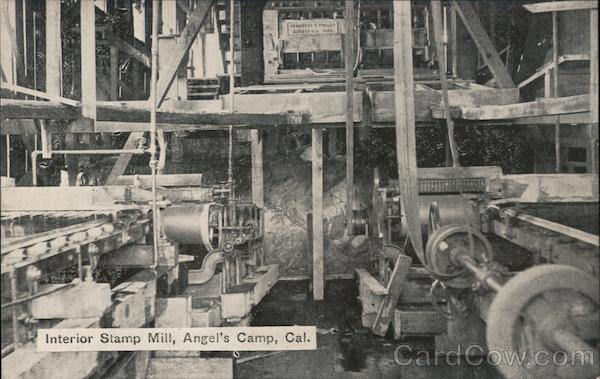 Interior Stamp Mill, Angel's Camp Angels Camp California