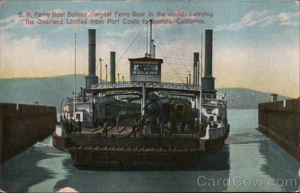Southern Pacific Ferry Boat Solano Port Costa California