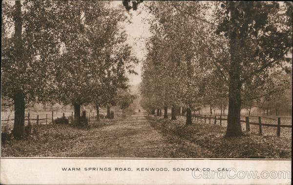 Warm Springs Road Kenwood California