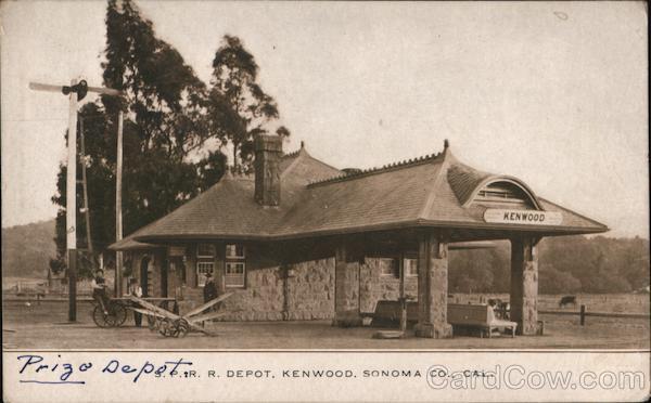 S.P. R.R. Depot Sonoma Co Kenwood California