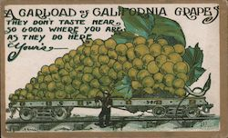 A Carload of California Grapes-The Don't Taste Near so Good where you are as they do here Your's Postcard