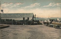Morning scene at Supply House J.F. Lucey Oil Well Supplies Postcard