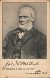 James Wilson Marshall The Discoverer of Gold in California Postcard