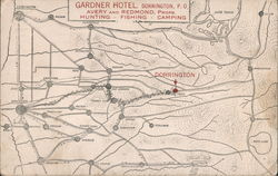 Gardner Hotel, Avery and Redmond Props. Hunting-Fishing-Camping Postcard