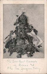 Bunches of Grapes - California Raisin Day Postcard