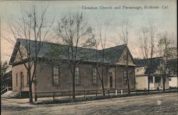 Christian Church and Parsonage Postcard