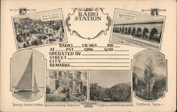Radio Station Venice, CA Postcard
