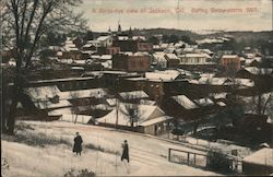 A Birds Eye View of Jackson, Cal. During Snowstorm 1907 Postcard