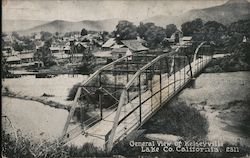 General View of Kelseyville Lake Co. California Postcard