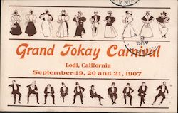 Grand Jokay Carnival - September 19, 20 and 21, 1907 Postcard