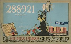 The Chimes Press of Los Angeles - Lithographers Engravers Printers Postcard